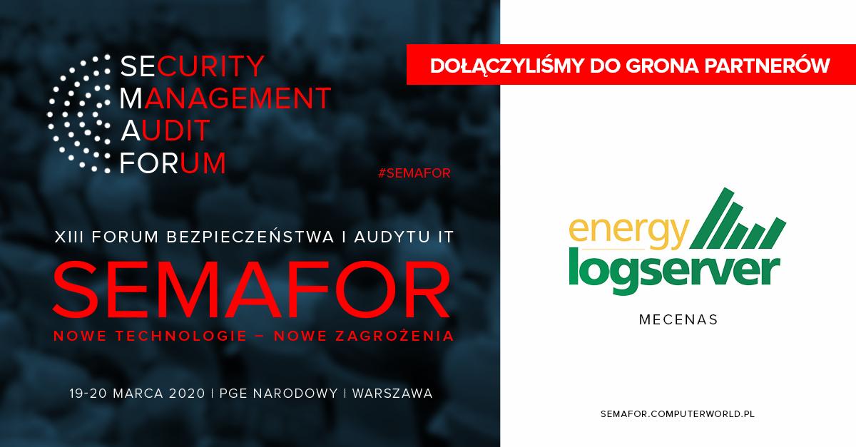 EMCA Mecenasem  XIII Forum Bezpieczeństwa i Audytu IT– SEMAFOR 2020